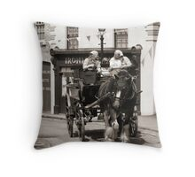 Up Hill, all the way Throw Pillow