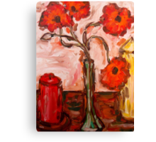 POPPIES WITH CANDLES Canvas Print
