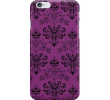 Haunted Mansion Pink Wallpaper iPhone Case/Skin