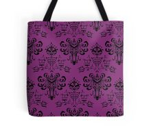 Haunted Mansion Pink Wallpaper Tote Bag