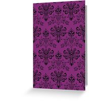 Haunted Mansion Pink Wallpaper Greeting Card