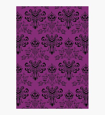 Haunted Mansion Pink Wallpaper Photographic Print