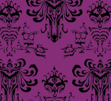 Haunted Mansion Pink Wallpaper Sticker