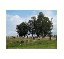 Going Wild in a Country Churchyard Art Print