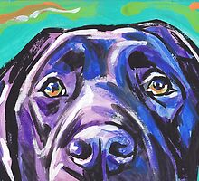 Labrador Retriever Dog Bright colorful pop dog art by bentnotbroken11