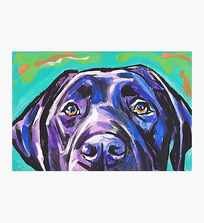 Labrador Retriever Dog Bright colorful pop dog art Photographic Print