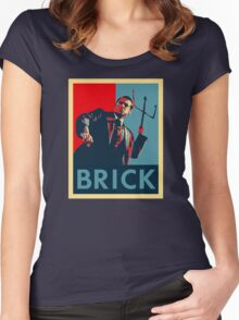 Brick (Obama Style) Women's Fitted Scoop T-Shirt