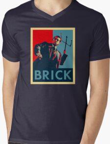 Brick (Obama Style) Mens V-Neck T-Shirt