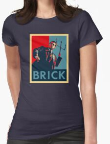 Brick (Obama Style) Womens Fitted T-Shirt
