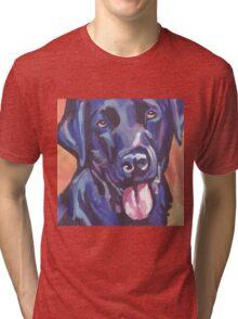 Labrador Retriever Dog Bright colorful pop dog art Tri-blend T-Shirt