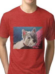 Willie the Westie Blue Tri-blend T-Shirt