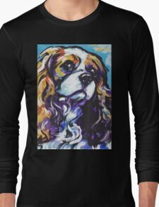 cavalier king charles spaniel Dog Bright colorful pop dog art Long Sleeve T-Shirt