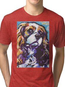 cavalier king charles spaniel Dog Bright colorful pop dog art Tri-blend T-Shirt