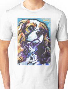 cavalier king charles spaniel Dog Bright colorful pop dog art Unisex T-Shirt