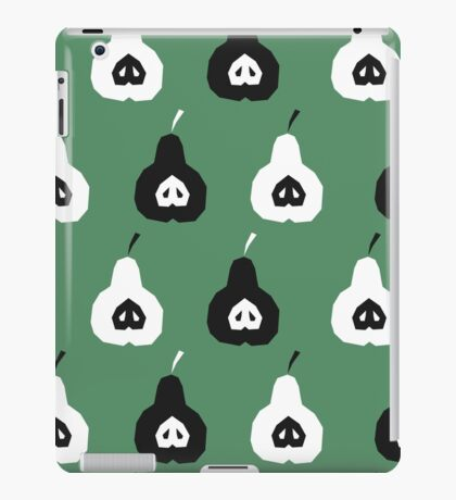 Green pattern with pears iPad Case/Skin