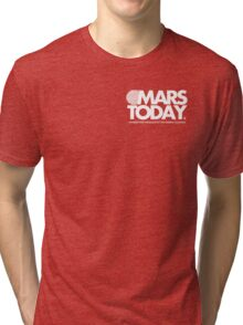Mars Today - Total Recall (Pocket, White) Tri-blend T-Shirt