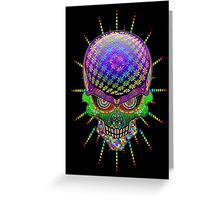 Crazy Skull Psychedelic Explosion Greeting Card