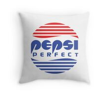Pepsi Perfect - Back to the Future (Flat Colors) Throw Pillow