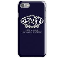 Biff's Hotel and Casino - Back to the Future (White and Black) iPhone Case/Skin