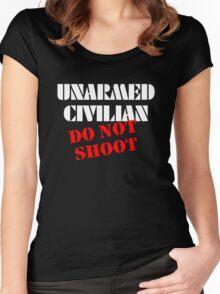 Unarmed Civilian - Do Not Shoot Women's Fitted Scoop T-Shirt