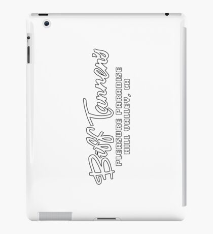 Biff Tannen's Pleasure Paradise - Back to the Future (Black) iPad Case/Skin