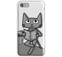 Street Cat Guide Book - black and white iPhone Case/Skin