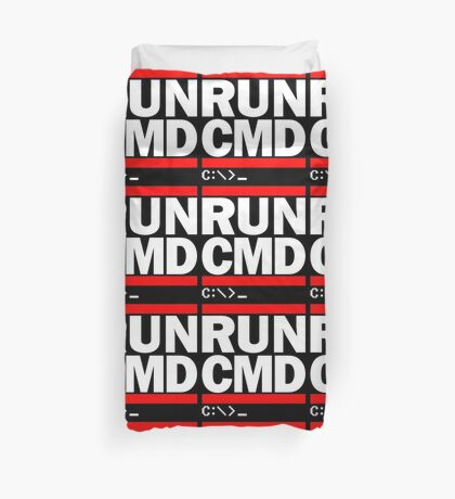 RUN CMD C:\>_ Duvet Cover