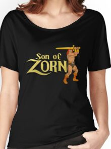 Son of Zorn Fan Art Print Design on Black Women's Relaxed Fit T-Shirt