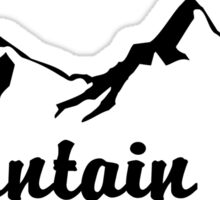 MOUNTAIN GIRL MOUNTAINS SKIING HIKING CLIMBING CAMPING NATIONAL PARK Sticker