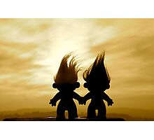 troll lovers in sepia Photographic Print