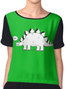 Cartoon Stegosaurus Chiffon Top
