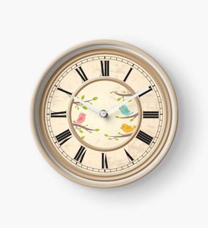 Nice LITTLE BIRDIES clock face...! Clock