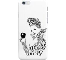 The Evil Queen - Calligram - color WHITE iPhone Case/Skin