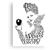 The Evil Queen - Calligram - color WHITE Metal Print