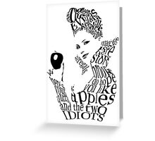 The Evil Queen - Calligram - color WHITE Greeting Card