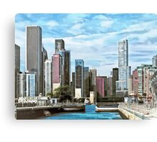 Chicago IL - Chicago Harbor Lock Canvas Print