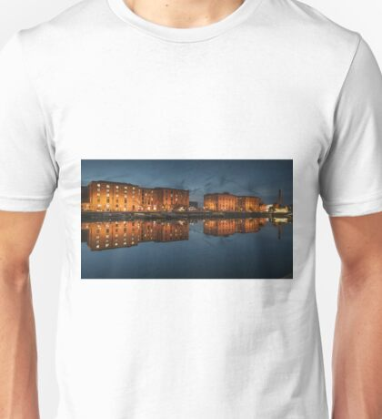 Salthouse Dock Liverpool at night Unisex T-Shirt