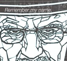 Walter White ( Heisenberg ) Sticker