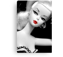 Vintage fashion Barbie doll Canvas Print