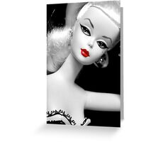 Vintage fashion Barbie doll Greeting Card
