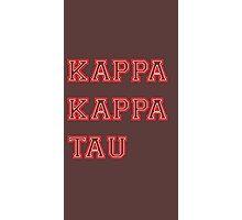 kappa kappa tau Photographic Print