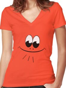 Smiley Signature Women's Fitted V-Neck T-Shirt