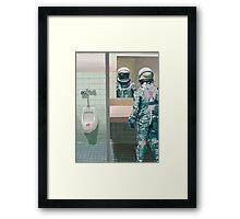 The Men's Room Framed Print