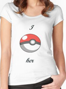 Pokémon I catch her Women's Fitted Scoop T-Shirt