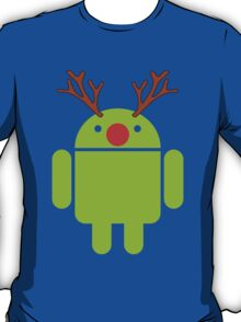 Red Nosed Android Robot T-Shirt