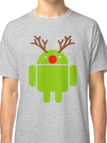 Red Nosed Android Robot Classic T-Shirt