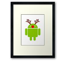 Red Nosed Android Robot Framed Print