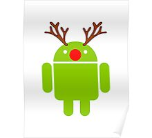 Red Nosed Android Robot Poster