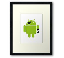Pirate Android Robot Framed Print