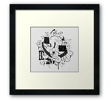 Octopus Ink Framed Print